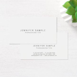 Tarjeta De Visita Moda simple moderna blanca elegante profesional
