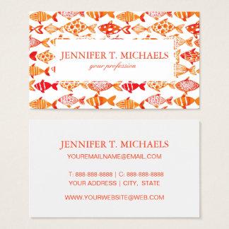 Tarjeta De Visita Modelo anaranjado brillante de los pescados de la