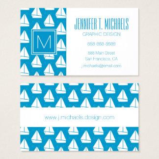 Tarjeta De Visita Modelo azul claro del velero
