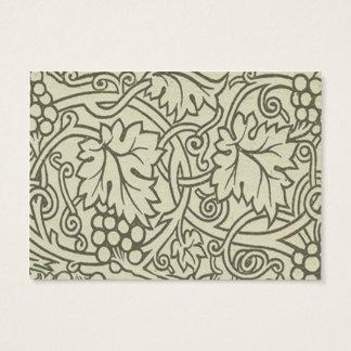 Tarjeta De Visita Modelo de Grapevile William Morris de la verde