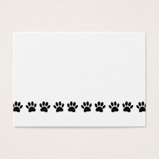 Tarjeta De Visita Modelo de la pata del perro