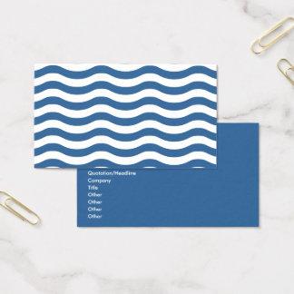 Tarjeta De Visita Modelo de onda azul blanco - fondo adaptable