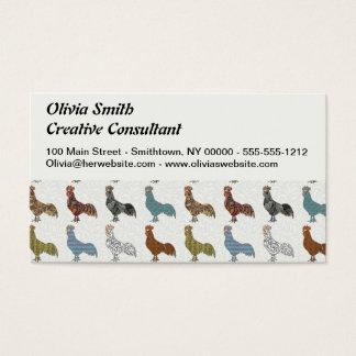 Tarjeta De Visita Modelo del país del gallo