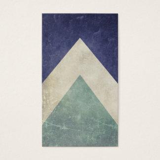 Tarjeta De Visita Modelo del triángulo del vintage