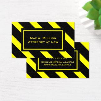 Tarjeta De Visita Modelo diagonal amarillo y negro intrépido de las