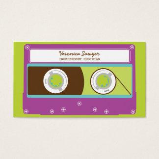 Tarjeta De Visita Modelo retro de la cinta de casete 80s de Mixtapes