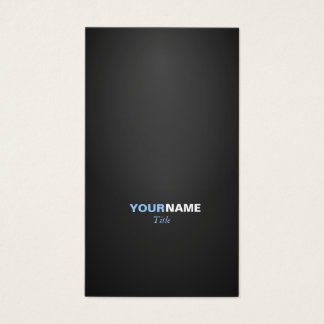 Tarjeta De Visita Modern font in two colors with