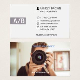Tarjeta de visita moderna de la fotografía del