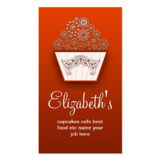 tarjeta de visita moderna decorativa anaranjada de
