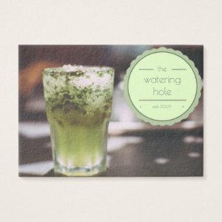 tarjeta de visita moderna del camarero de la barra