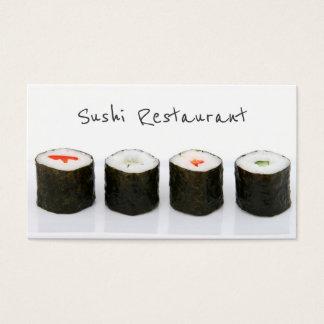 Tarjeta de visita moderna simple del sushi