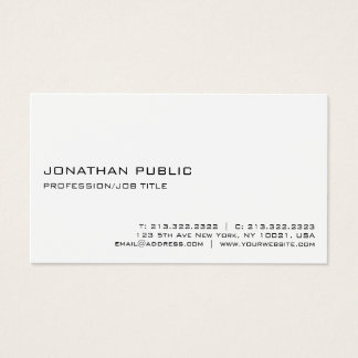 Tarjeta De Visita Moderno blanco profesional elegante de