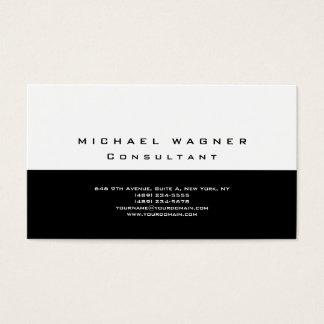 Tarjeta De Visita Moderno de moda blanco negro simple llano