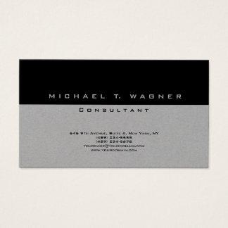 Tarjeta De Visita Moderno de moda gris negro simple llano