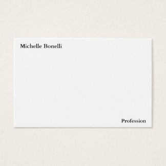 Tarjeta De Visita Moderno minimalista blanco simple llano
