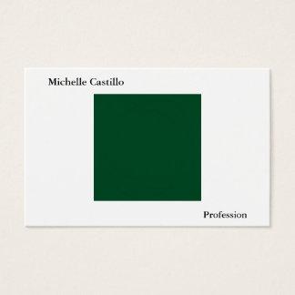Tarjeta De Visita Moderno minimalista blanco simple llano de Forest