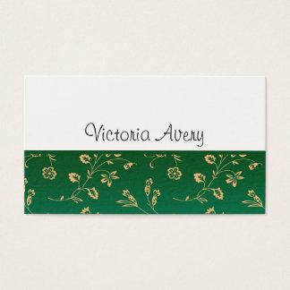 Tarjeta De Visita Moderno minimalista del diseño floral