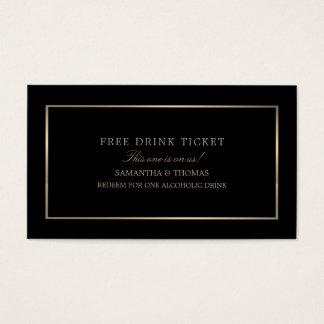 Tarjeta De Visita Moderno y liso, negro y oro, libere el boleto de