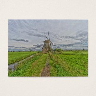 Tarjeta De Visita molinoes de viento del sitio del patrimonio
