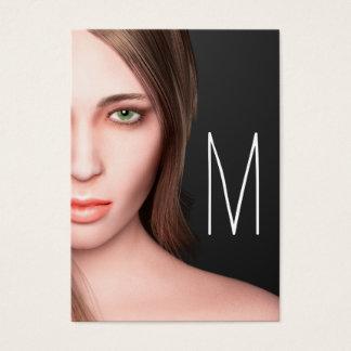 Tarjeta De Visita Monograma del chica de la moda