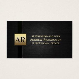Tarjeta De Visita Monograma del oro