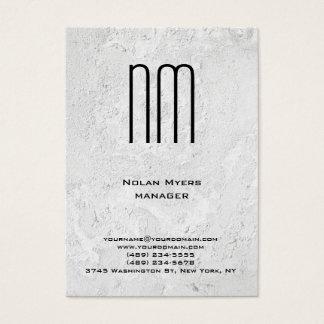 Tarjeta De Visita Monograma gris único moderno de la textura de la