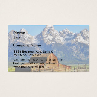 Tarjeta De Visita Montañas magníficas de Tetons de los graneros