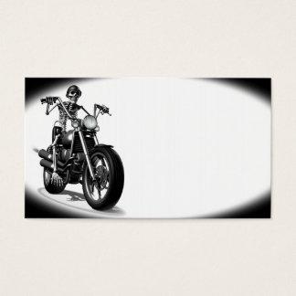 Tarjeta De Visita Motorista esquelético