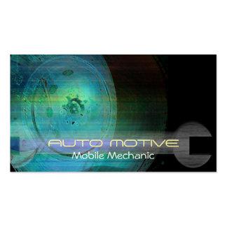 Tarjeta de visita móvil motiva auto del mecánico tarjetas de visita