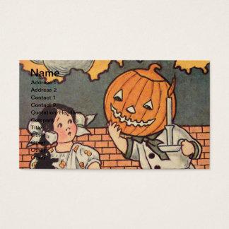 Tarjeta De Visita Muchacho de la calabaza (tarjeta de Halloween del