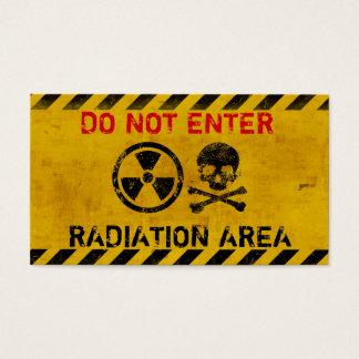 Tarjeta De Visita Muestra de peligro adaptable de radiación