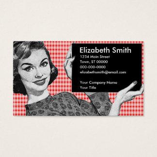 Tarjeta De Visita mujer de los años 50 con una muestra V2