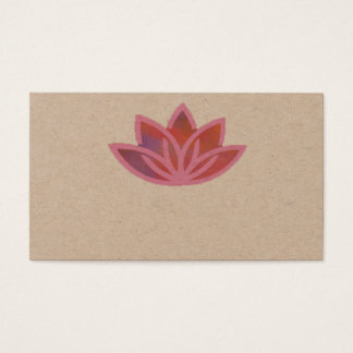 Tarjeta de visita multicolora rosada de Lotus