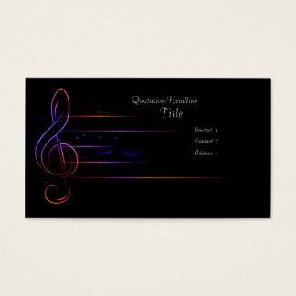 Tarjeta De Visita Música y luz