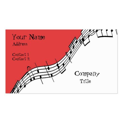 Tarjeta de visita musical