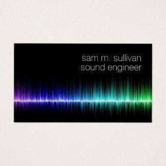 Tarjeta De Visita Músico colorido de la onda acústica del ingeniero