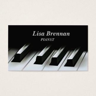 Tarjeta De Visita Músico del pianista, escuela del profesor del