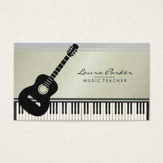 Tarjeta De Visita Músico del teclado de piano de la guitarra del