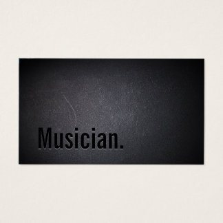 Tarjeta De Visita Músico intrépido negro minimalista