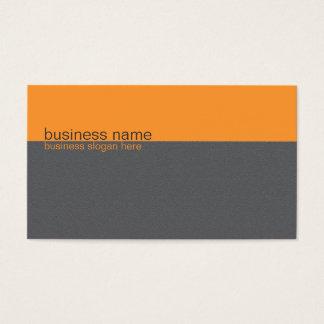 Tarjeta De Visita Naranja simple elegante llano/raya gris