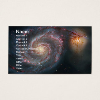 Tarjeta De Visita NASA de la galaxia espiral de M51 Whirlpool