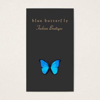 Tarjeta De Visita Naturaleza de la mariposa de las azules turquesas