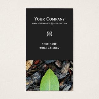 Tarjeta De Visita Naturaleza verde elegante del diseñador del