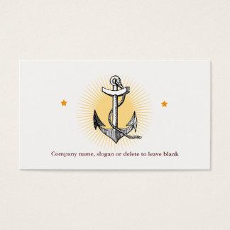 Tarjeta De Visita Negocio de la navegación del ancla de la nave del