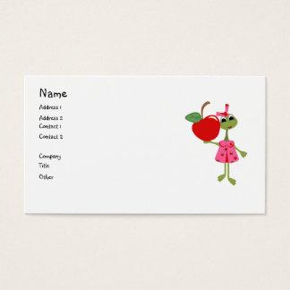 Tarjeta De Visita Negocio personalizado/Tarjeta-Profesor y Apple de