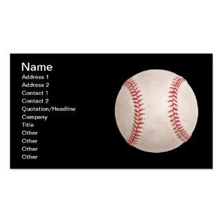 Tarjeta de visita negra del béisbol