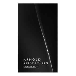 Tarjeta de visita negra gris de moda del consultor