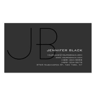 Tarjeta de visita negra gris del consultor del mon