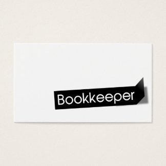 Tarjeta de visita negra moderna de la contabilidad