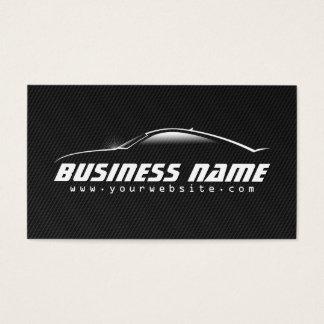 Tarjeta de visita negra profesional del coche de